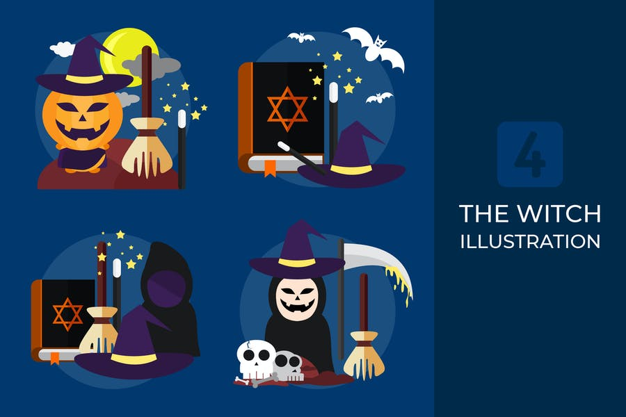 The Witch - Vector Illustration