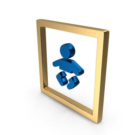 Значок Логотип «Уход за ребенком»
