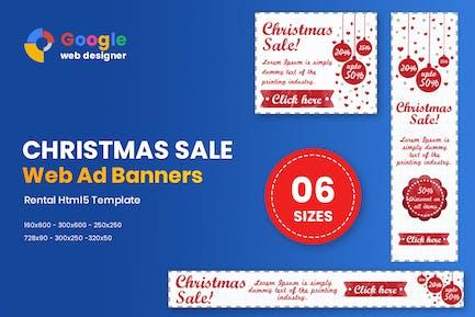 Christmas Sale Banner HTML5 - Animate