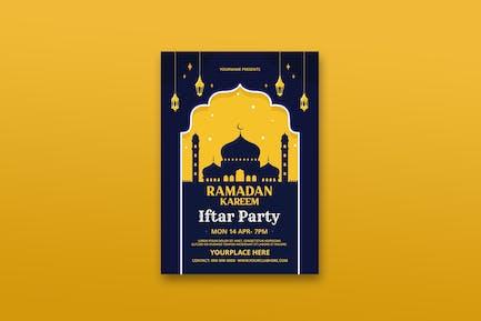 Ramadan Kareem Iftar Party Flyer