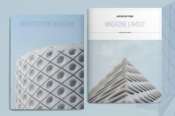 Blue Architecture Magazine Layout