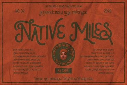 Native Miles - Vintage Fonts