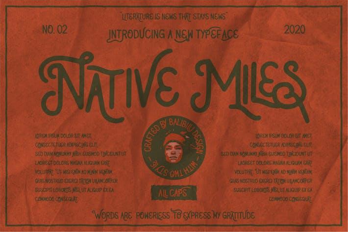 Miles nativas - Fuentes Vintage