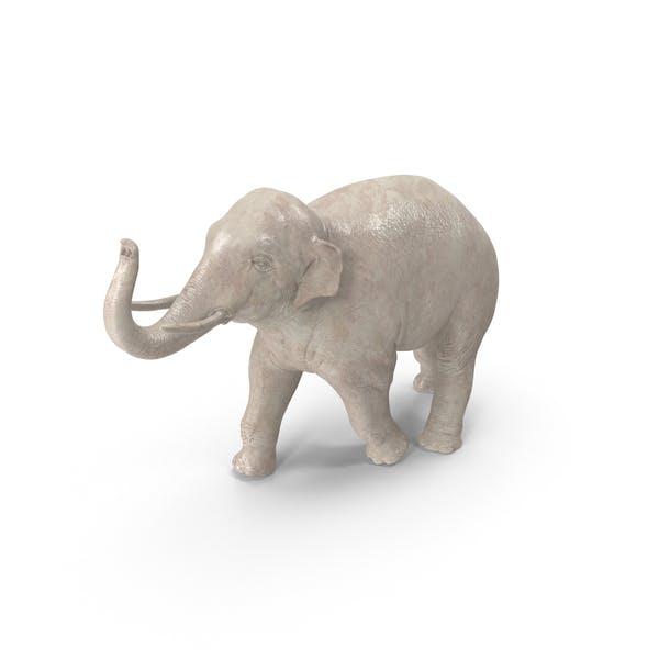 Asian Elephant Statuette