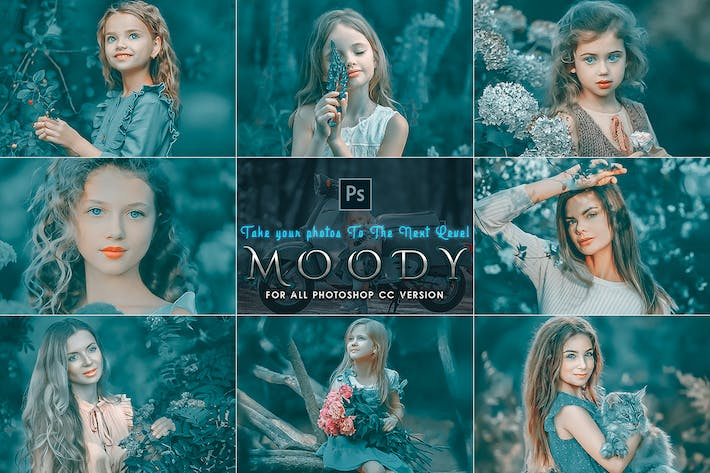 Thumbnail for Moody Photoshop Actions