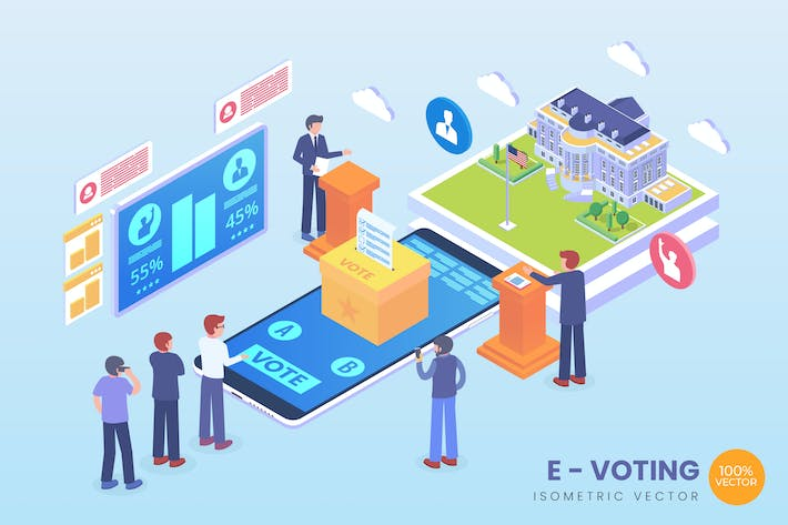 Thumbnail for Isometric E-Voting Vector Concept