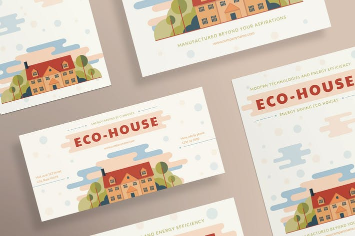 Thumbnail for Eco house Flyer and Poster Template