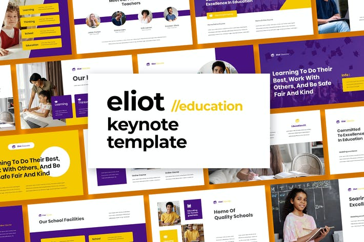 Thumbnail for Eliot - Education Template Keynote