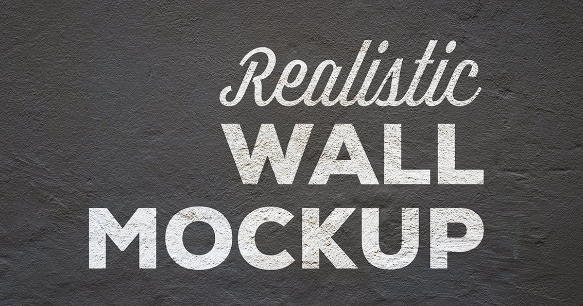 Download Realistic Wall Mockup by sagesmask