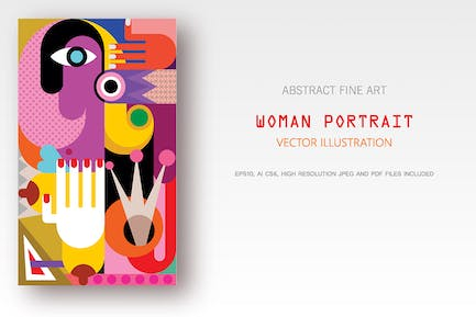 Woman Abstract Portrait
