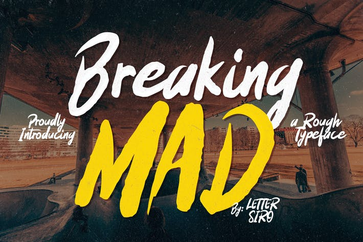 Thumbnail for Breaking Mad Font