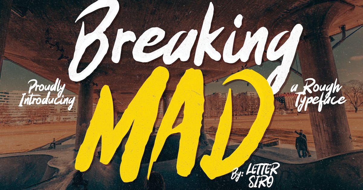Download Breaking Mad Font by shirongampus