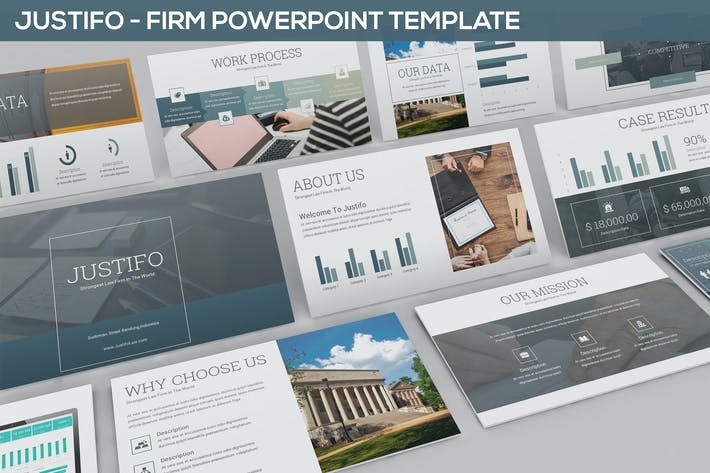 Thumbnail for Justifo - Firm Powerpoint Presentation Template