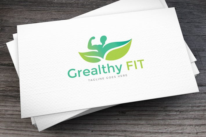 Thumbnail for Green Fitness Logo Template