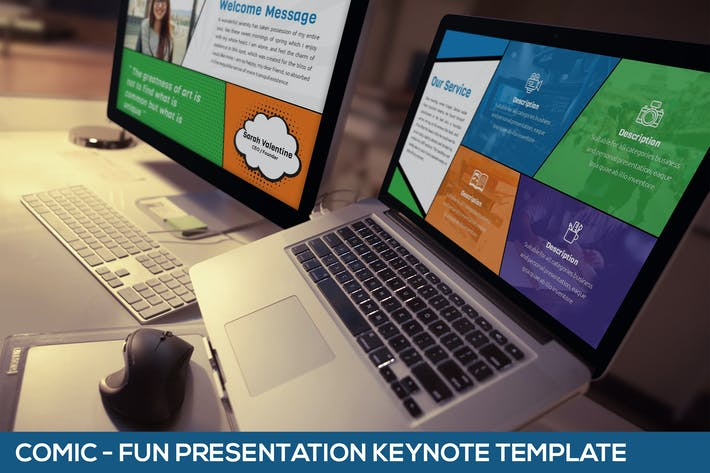 Thumbnail for Comic - Fun Keynote Presentation Template
