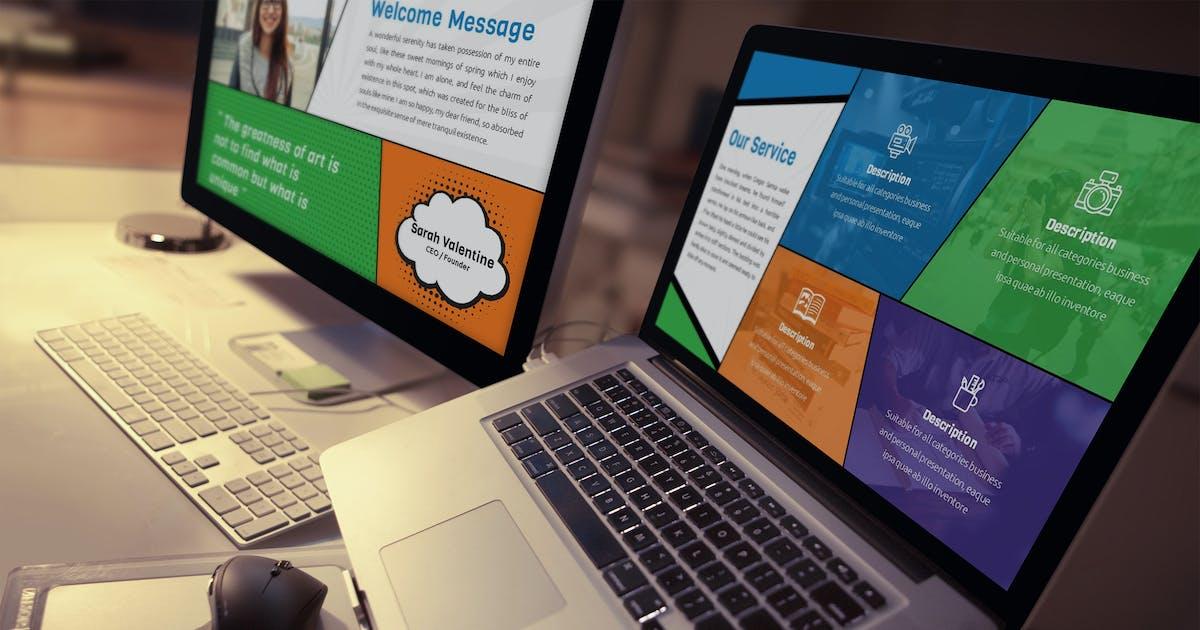 Download Comic - Fun Keynote Presentation Template by SlideFactory
