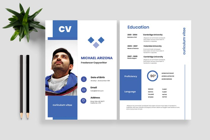 Cover Image For Resume CV Template 16