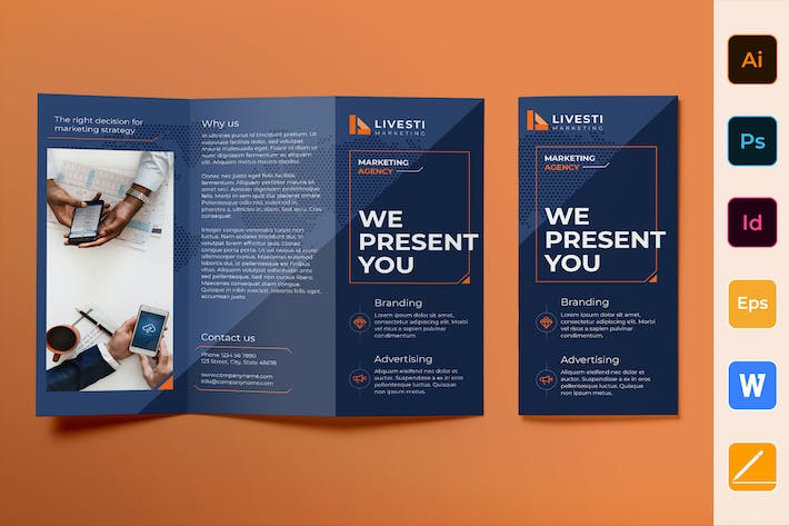 Thumbnail for Marketing Agency Brochure Trifold