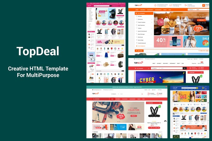 Thumbnail for TopDeal - Responsive MultiPurpose HTML Template