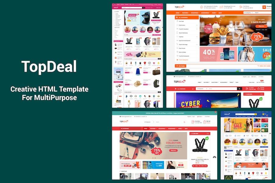 TopDeal - Responsive MultiPurpose HTML Template