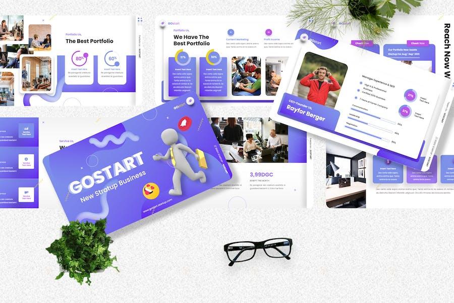 Gostart - Startup Googleslide Template