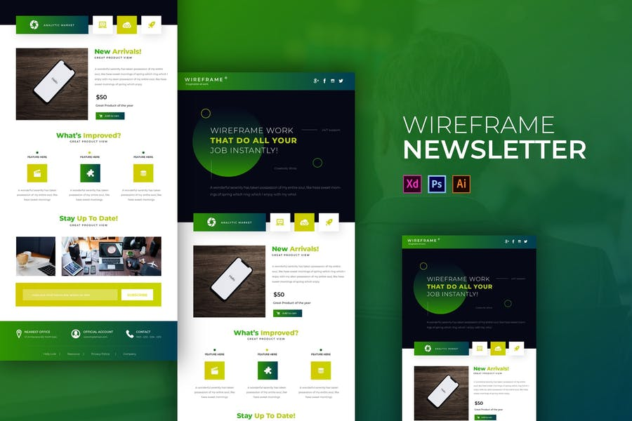 Wireframe | Newsletter Template
