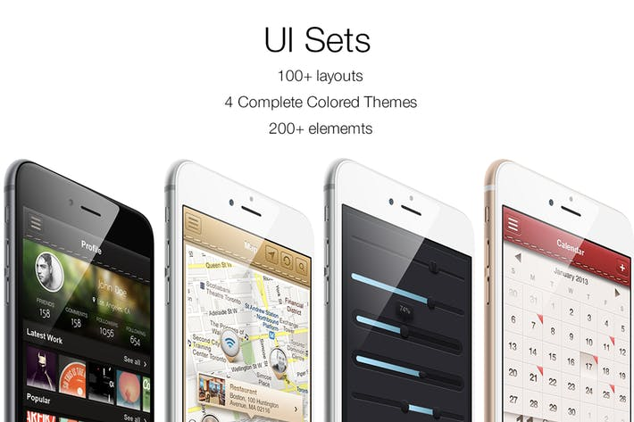 Thumbnail for iOS UI Sets 4 Colors