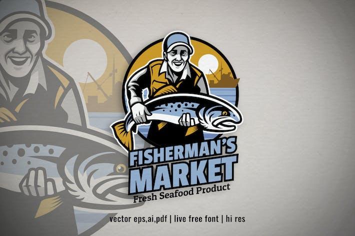 Thumbnail for fisherman fishing product logo