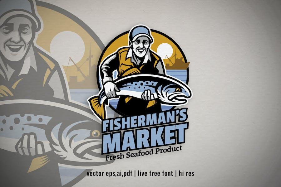 fisherman fishing product logo