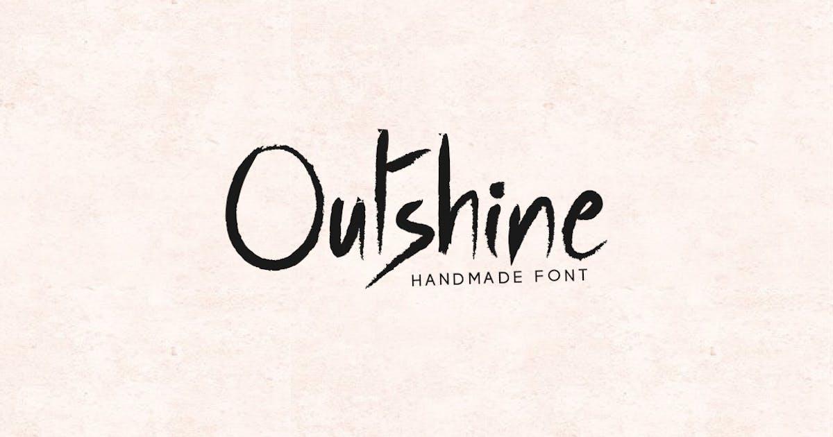 Download Outshine - Luxury / Handwritten Font by designova