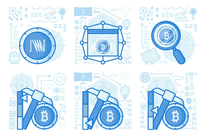 Thumbnail for Bitcoin Mining UI UX Illustrations