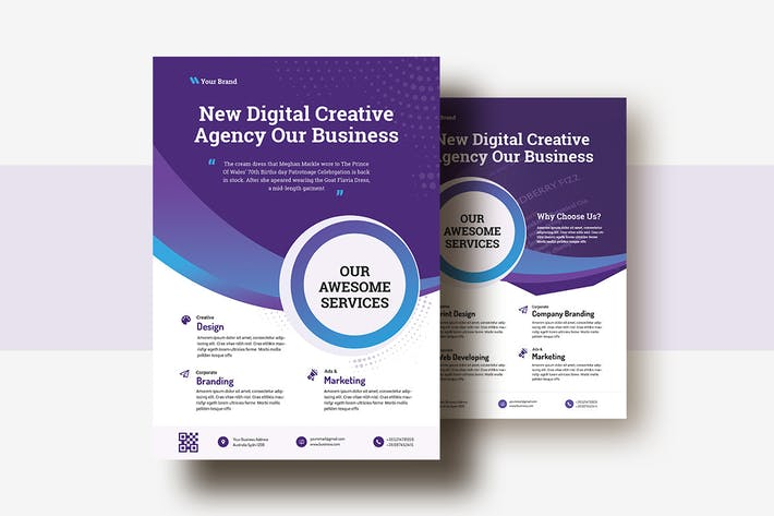 Cover Image For Business & Corporate AD Flyer Template V-25