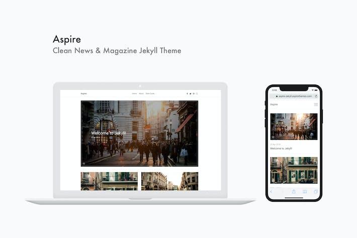Thumbnail for Aspire - Clean News & Magazine Jekyll Theme