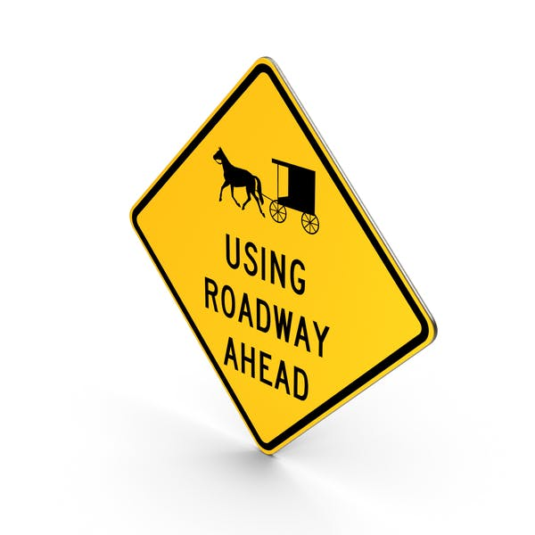 Horse Drawn Vehicle Ahead Road Sign