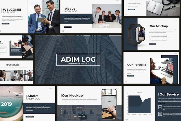 Thumbnail for Admin Log Business Powerpoint