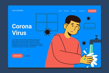 Wash Your Hand - Landing Page