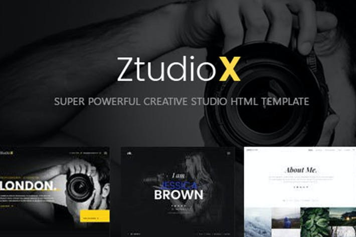 Thumbnail for Ztudio X - Creative Studio Photography HTML Templa