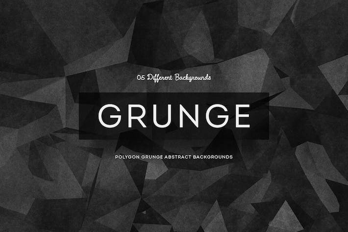Thumbnail for Grunge  Polygon Backgrounds