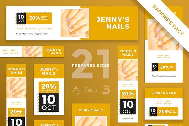 Nail Salon Banner Pack Template