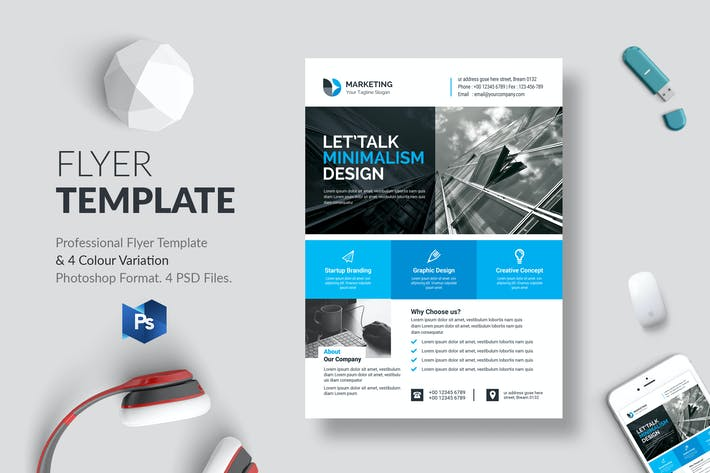 Thumbnail for Business Flyer Template 31