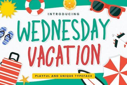 Wednesday Vacation - Handwritten Font