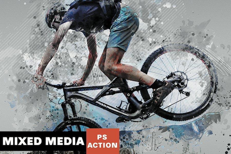 Modernity - Mixed Media Photoshop Action