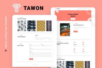 Tawon - Agentur Landing Page Vorlage