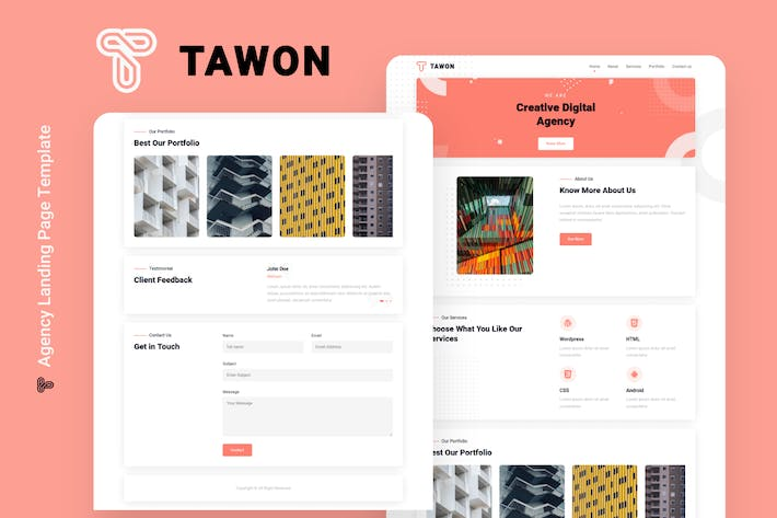 Thumbnail for Tawon - Agency Landing Page Template