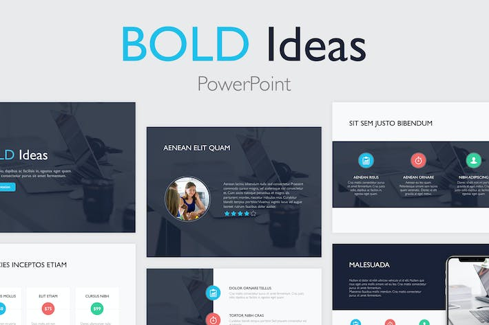 Thumbnail for Bold Ideas PowerPoint Template