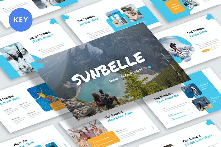 Cover Image For Sunbelle Keynote Template