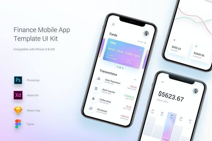 Thumbnail for Finance Mobile App Template UI Kit