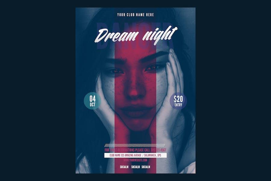 Dream Night Music Flyer Poster