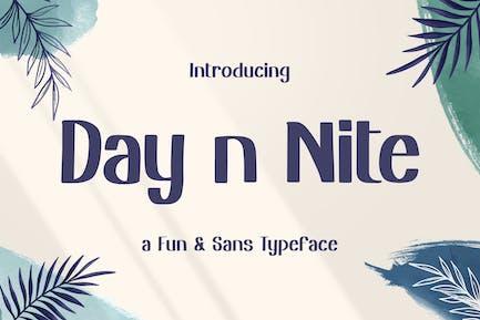 Day n Nite – Fun Sans Typeface