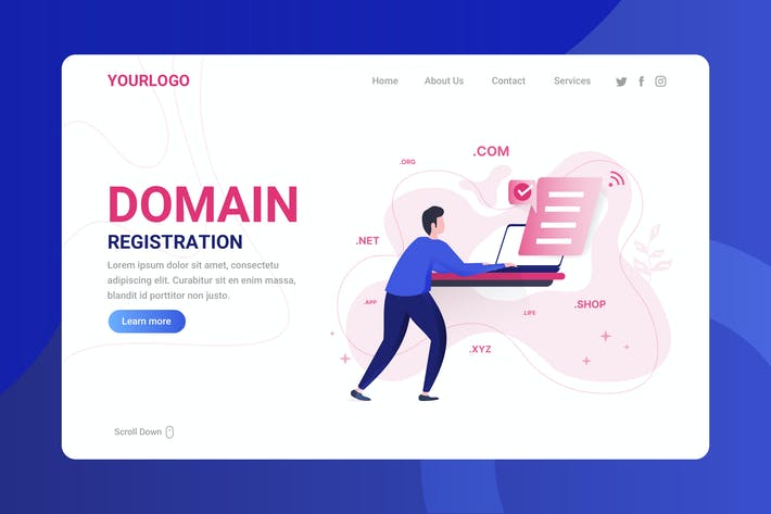 Thumbnail for Domain Registration - Landing Page